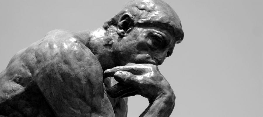 Data Philosophy Abstract 'The Thinker' Statue